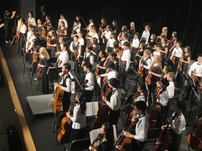 Whole Orchestra standing