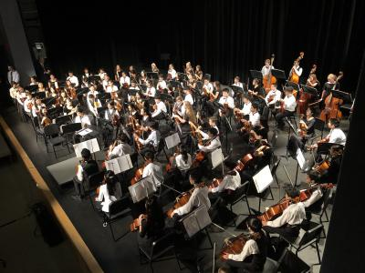whole orchestra playing