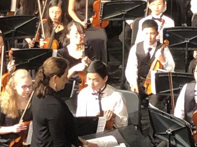 small group following conducting