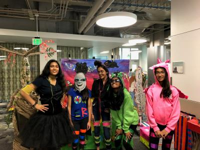 Odyssey of the Mind team in costume
